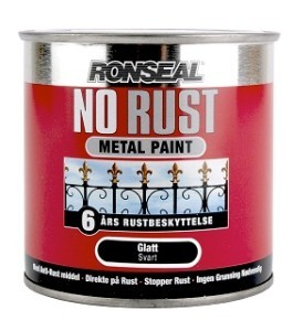 No Rust Sateng Finish Svart 250 ml